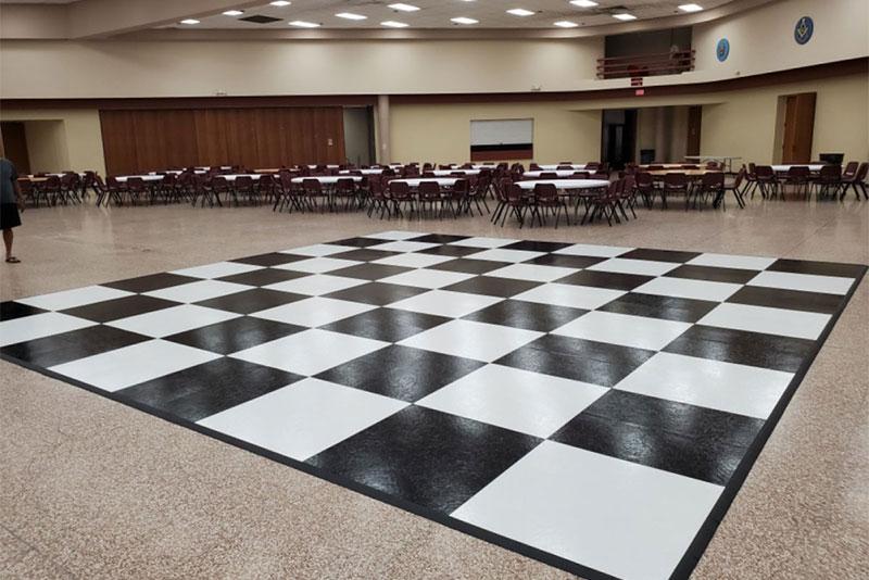 Black and White Dancefloor - DPC Event Services