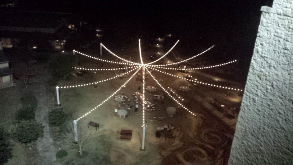 String Lighting Aerial View
