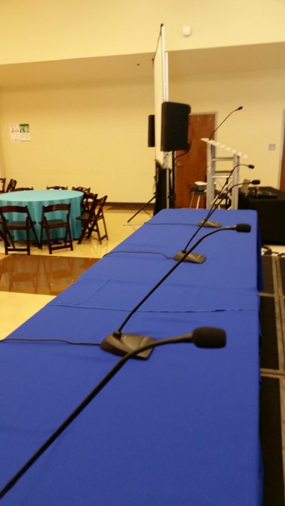 Sound Systems - Goose-Neck Microphones for Panel Discussion