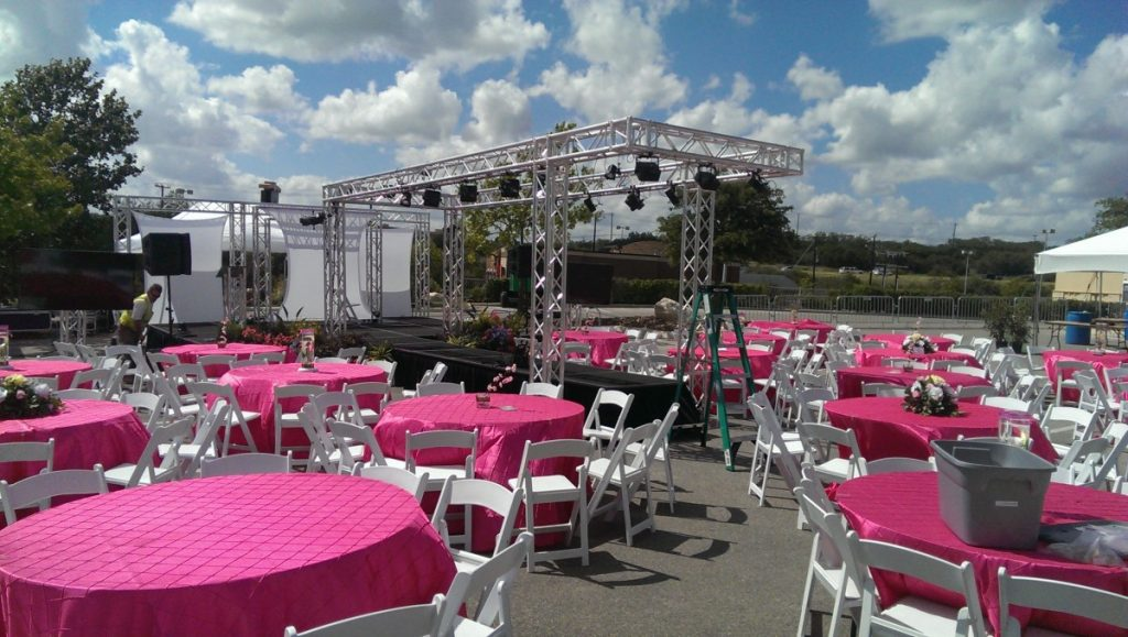 Audio / Video with Custom Trussed Structure for Fashion Show