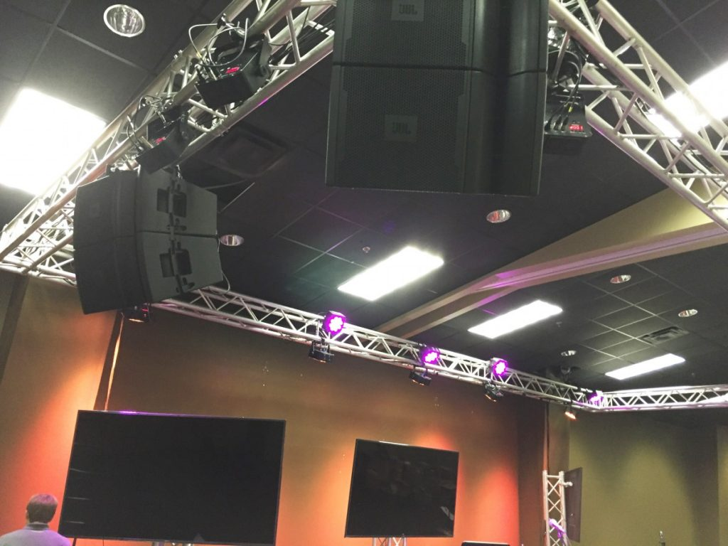 Sound Systems - JBL Speakers on Truss