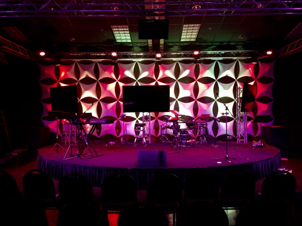 Spandex Custom Stage Backdrop