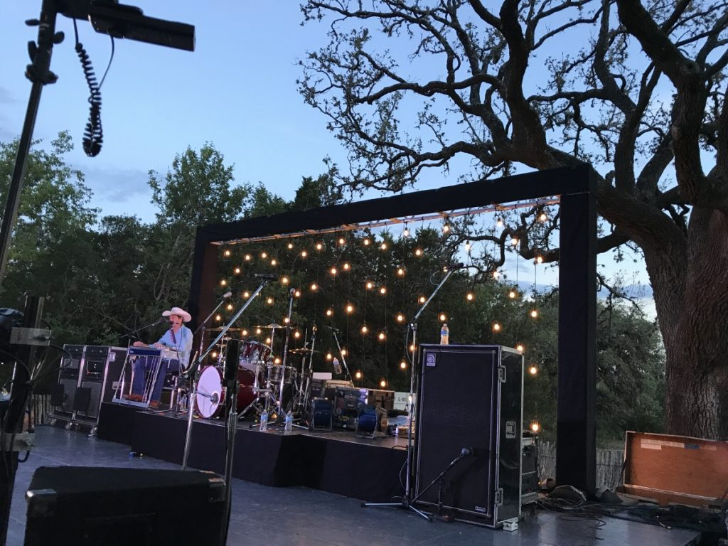 String Lighting as Stage Backdrop