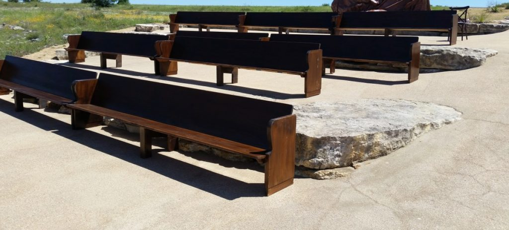 Church Pews at Ceremony