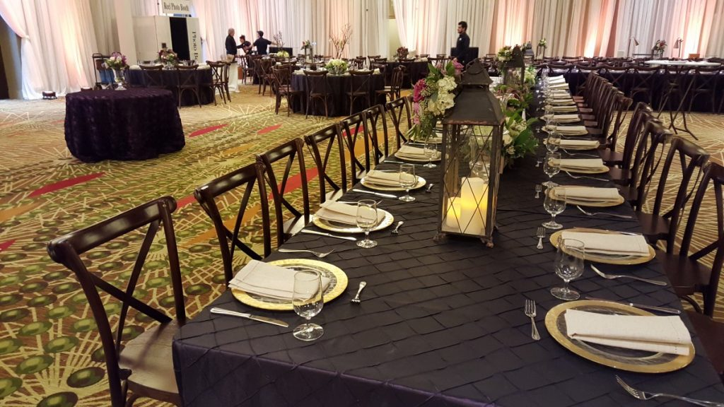 Indoor Reception Featuring Crossback Chairs