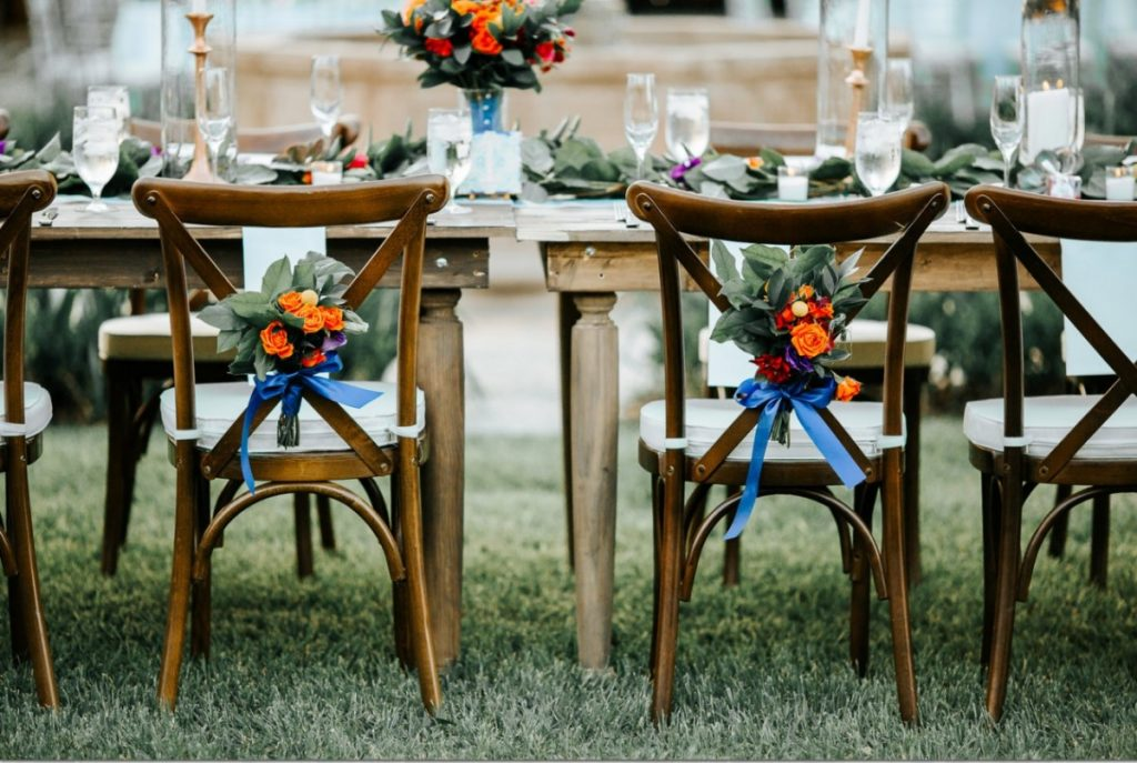Crossback Chairs with Rustic Farm Tables
