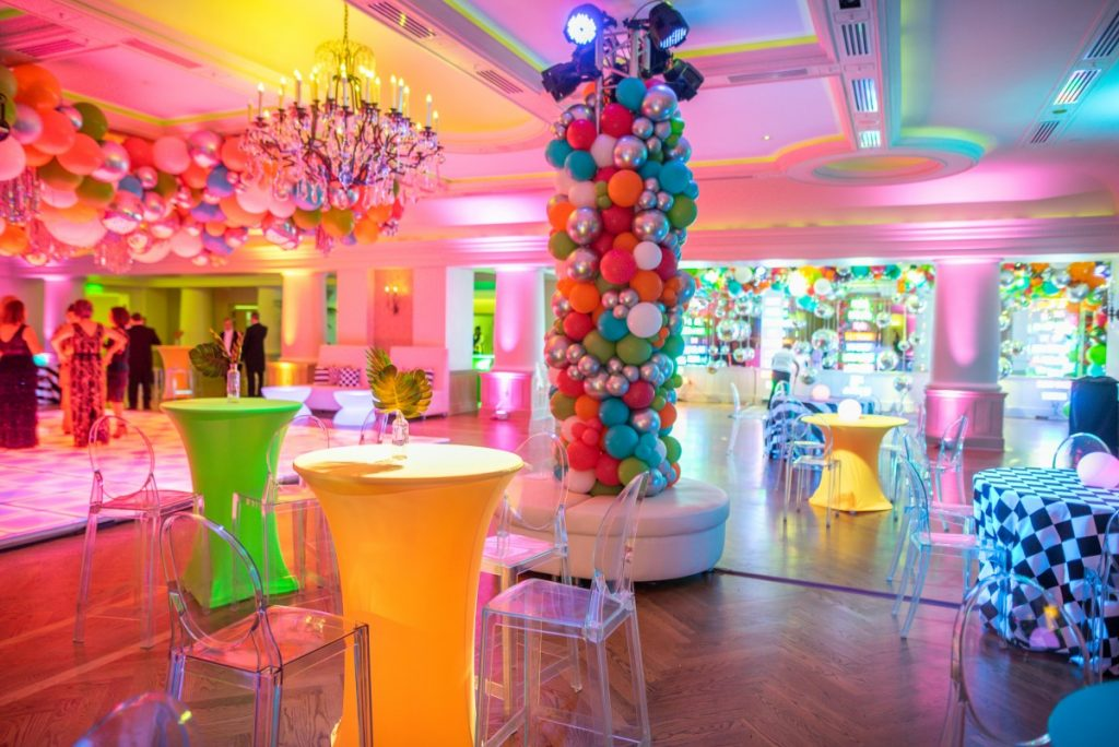 Ghost Barstools with Neon Spandex Cocktails - Parish Photography