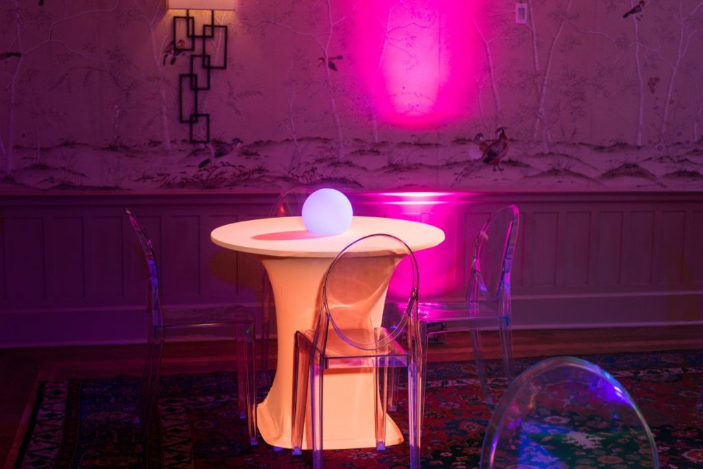 Ghost Chairs with Bistro Spandex Tables