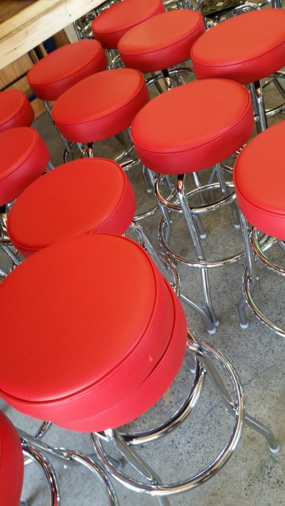 Red Leather Specialty Barstools