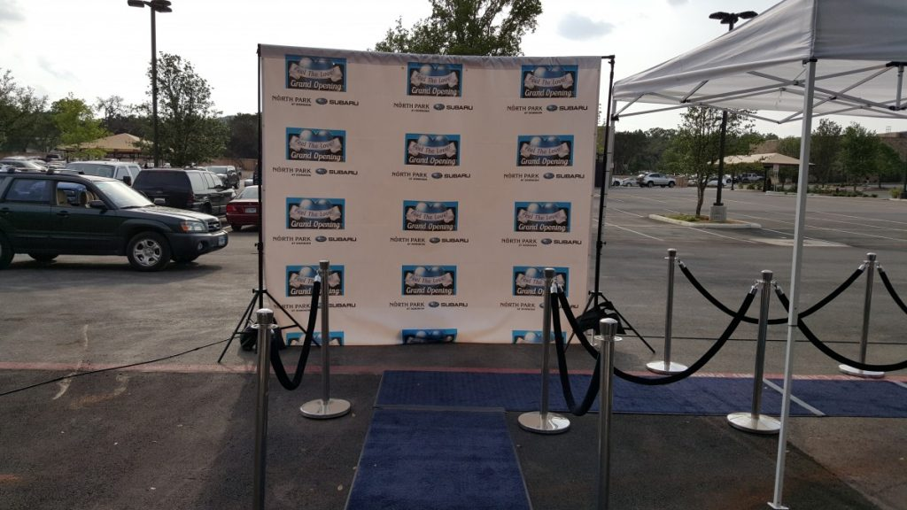 Blue Carpet with Step & Repeat