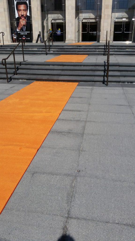 Orange Carpeting