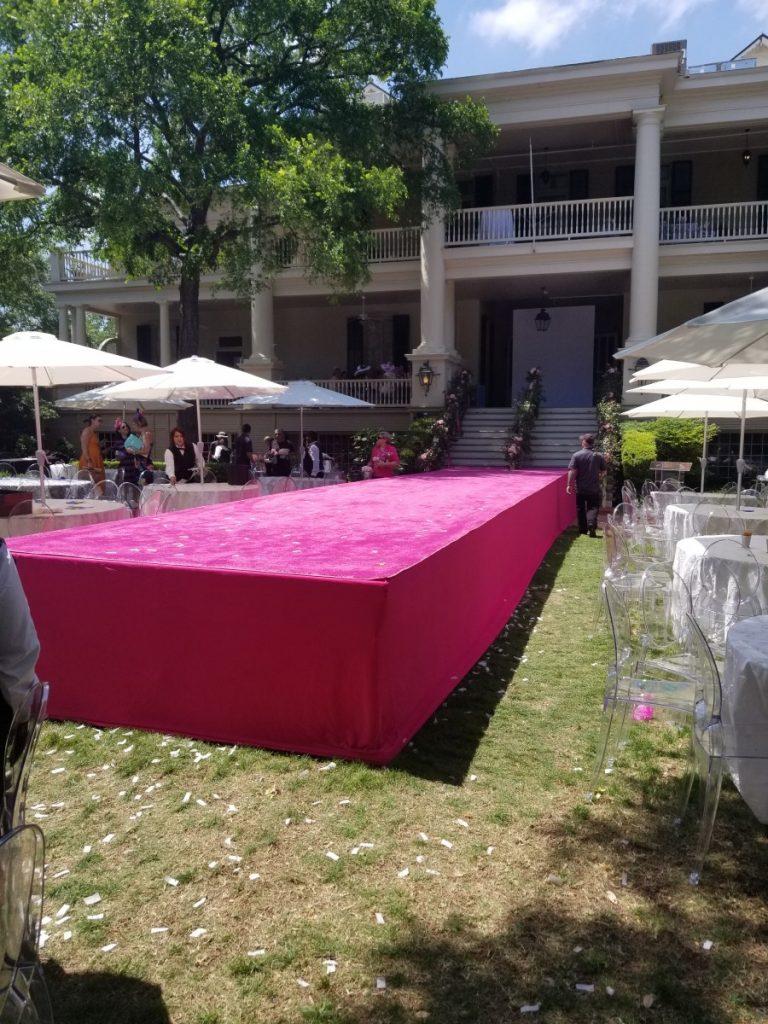Custom Pink Carpet on Runway