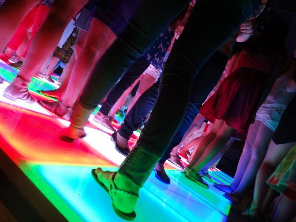 LED Dance Floor Up Close