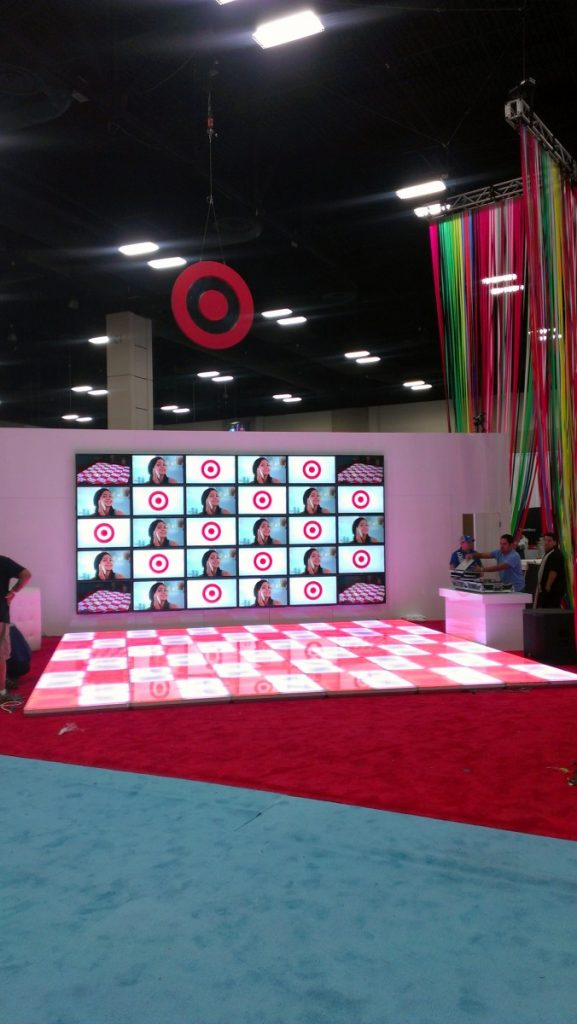Dance Floors can be Customized! - Target Event
