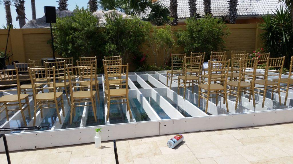 Ceremony over Pool