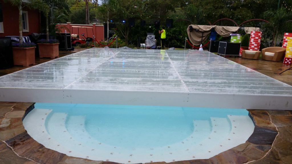 Swimming Pool Dance Floors Built over Pool