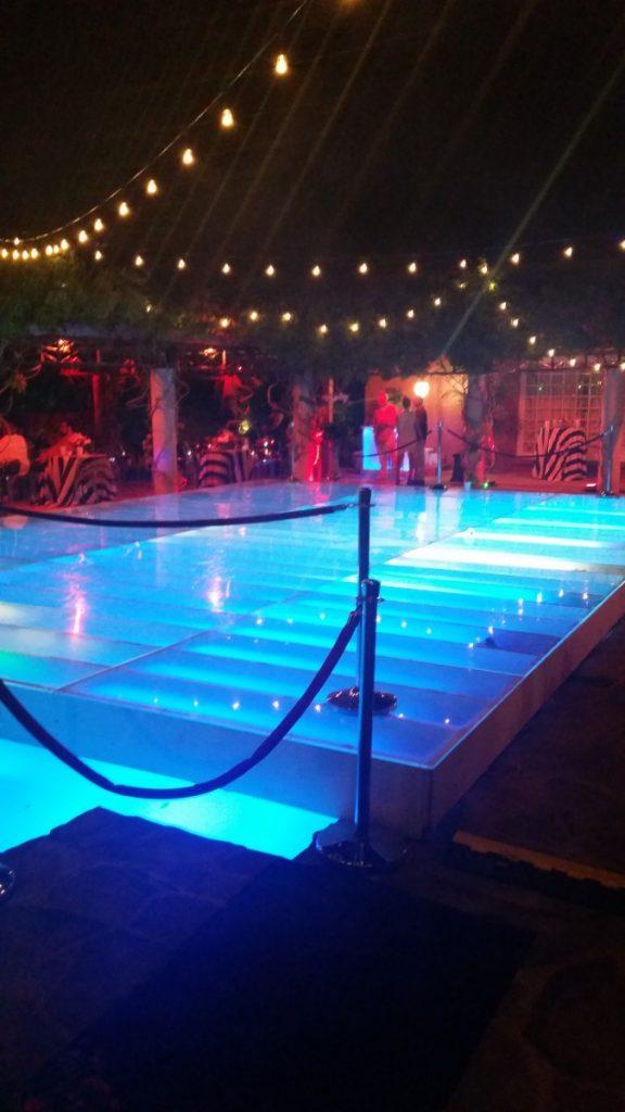 Dancefloor Built with Pool Lights
