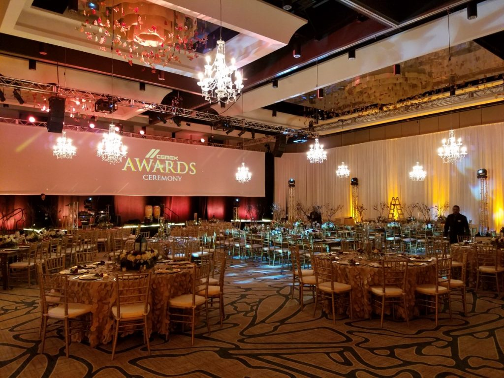 Crystal Chandeliers Throughout the Room