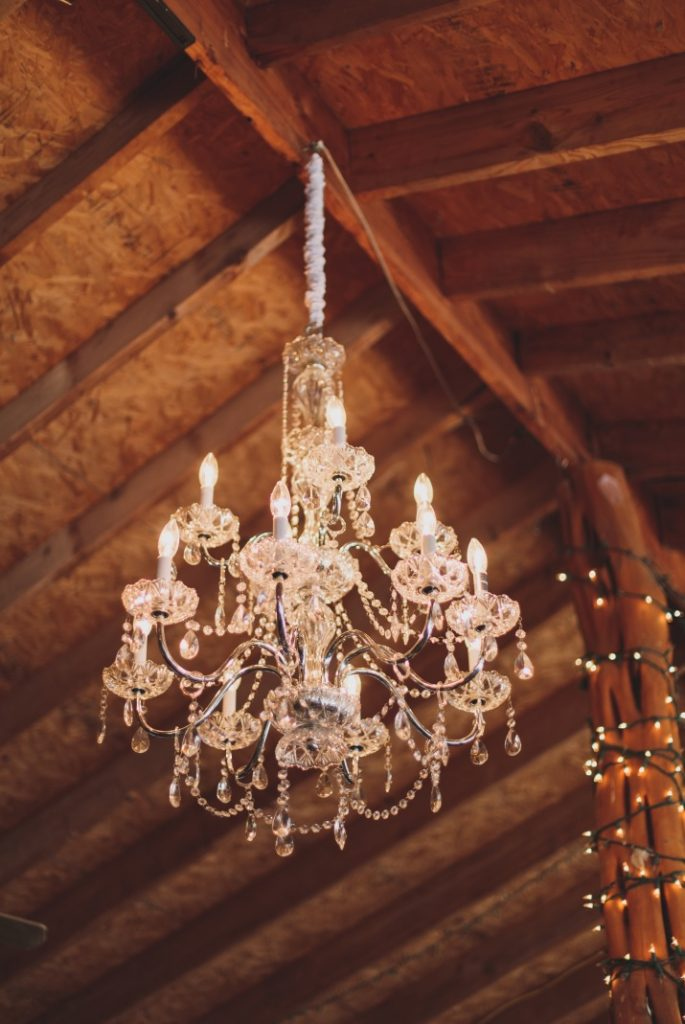 Large Crystal Chandelier with Chain Cover