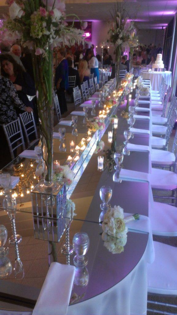 Mirrored Glass Table Topper Decor