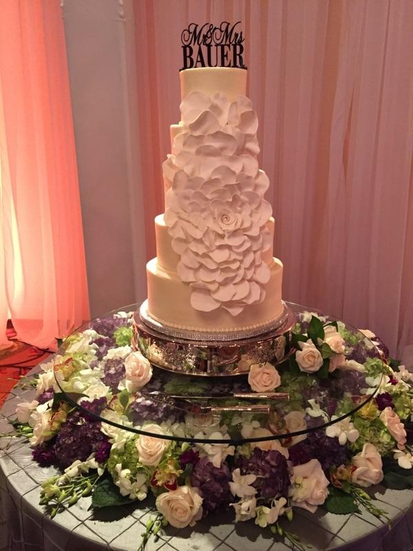 Custom Glass Cake Riser Decor