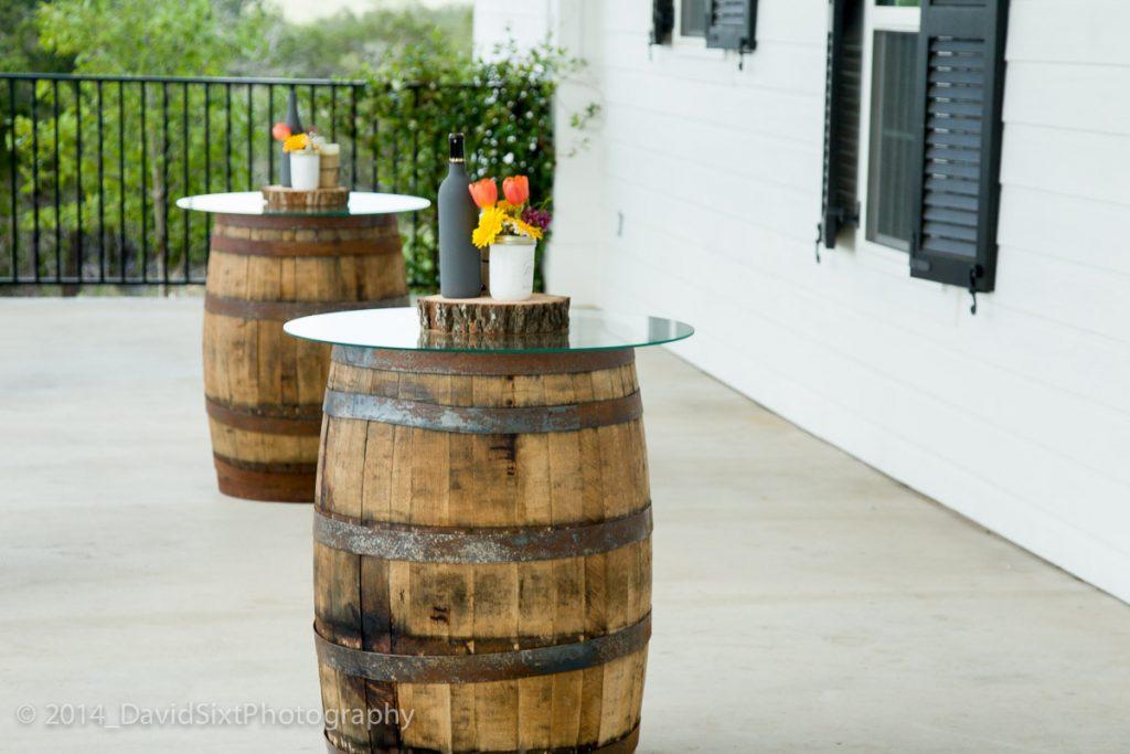 Glass Top Decor for Wine Barrels
