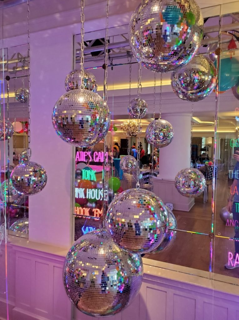 Disco Balls Hung in Various Sizes
