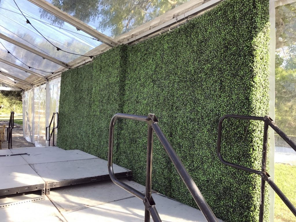 Greenery Hedge Walls as Stage Backdrop