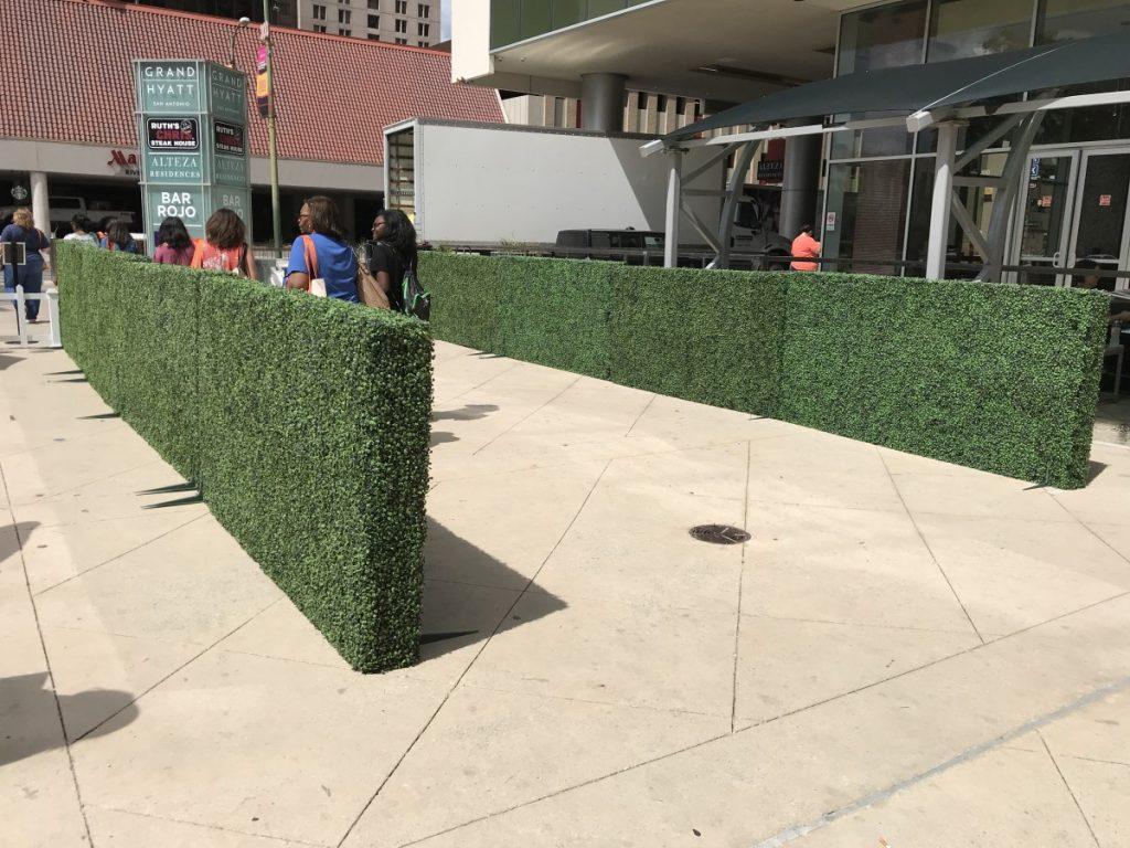 Greenery Hedge Walls as Crowd Control