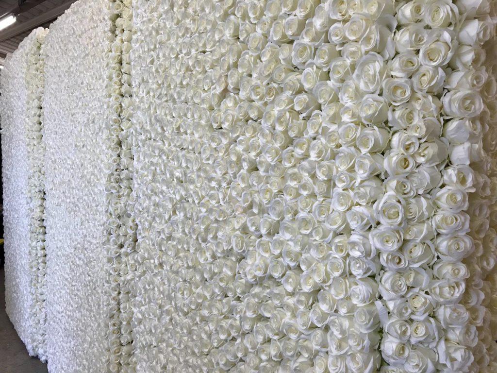 New White Flower Wall!