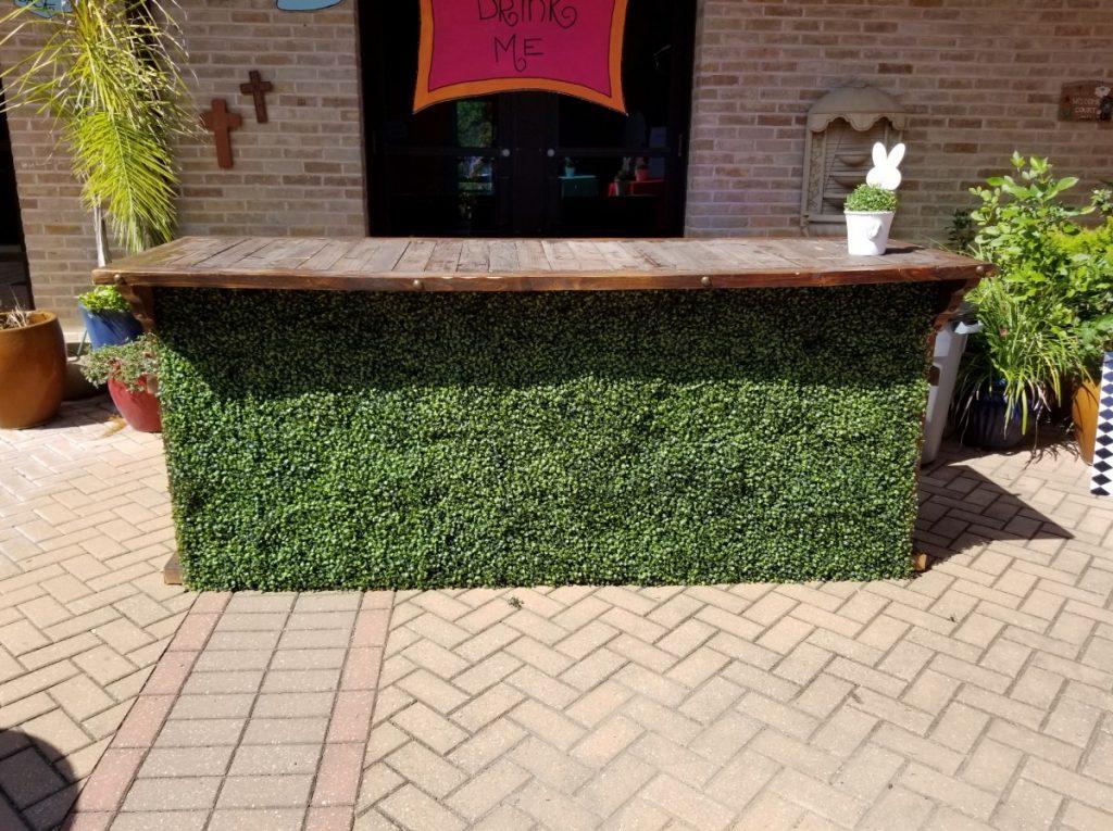Hedge Facade on Reclaimed Bar