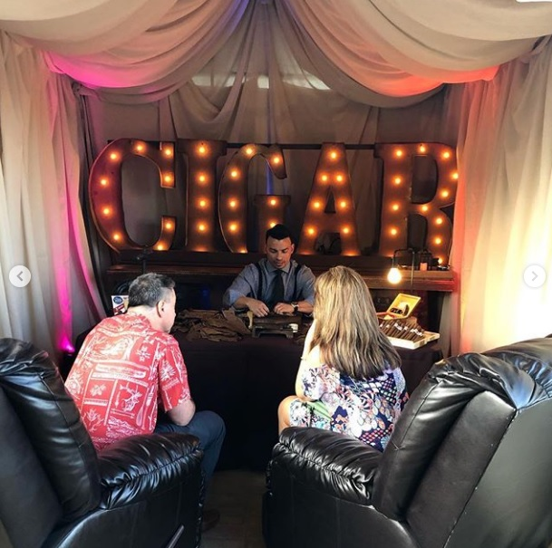 Marquee Letters at Cigar Bar