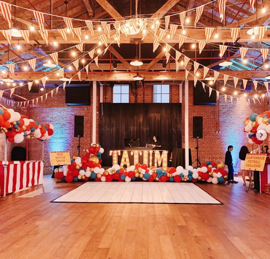 White Marquee Letters - with String Lighting