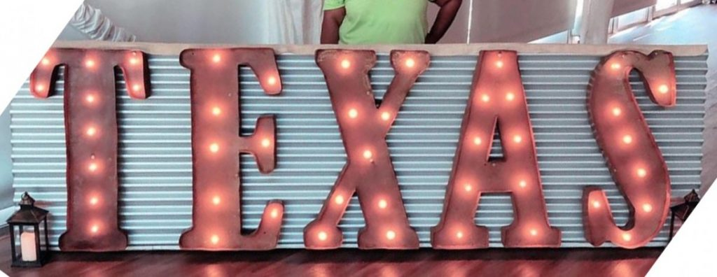 Marquee Letters attached to Aluminum Board