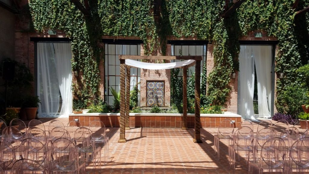 Wooden Chuppah at Ceremony Site
