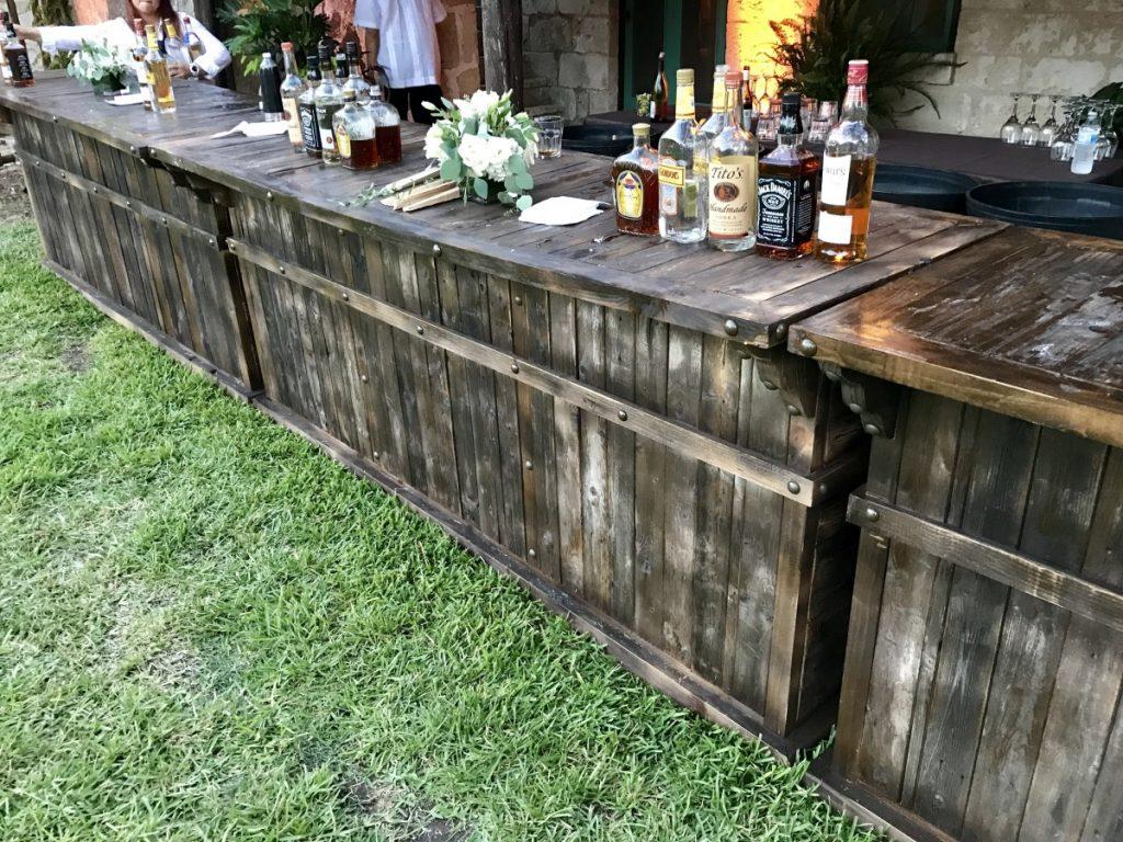 Reclaimed Wooden Bar