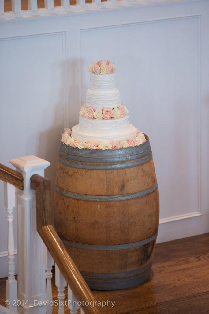Wine Barrel Cake Display- Rustic Decor