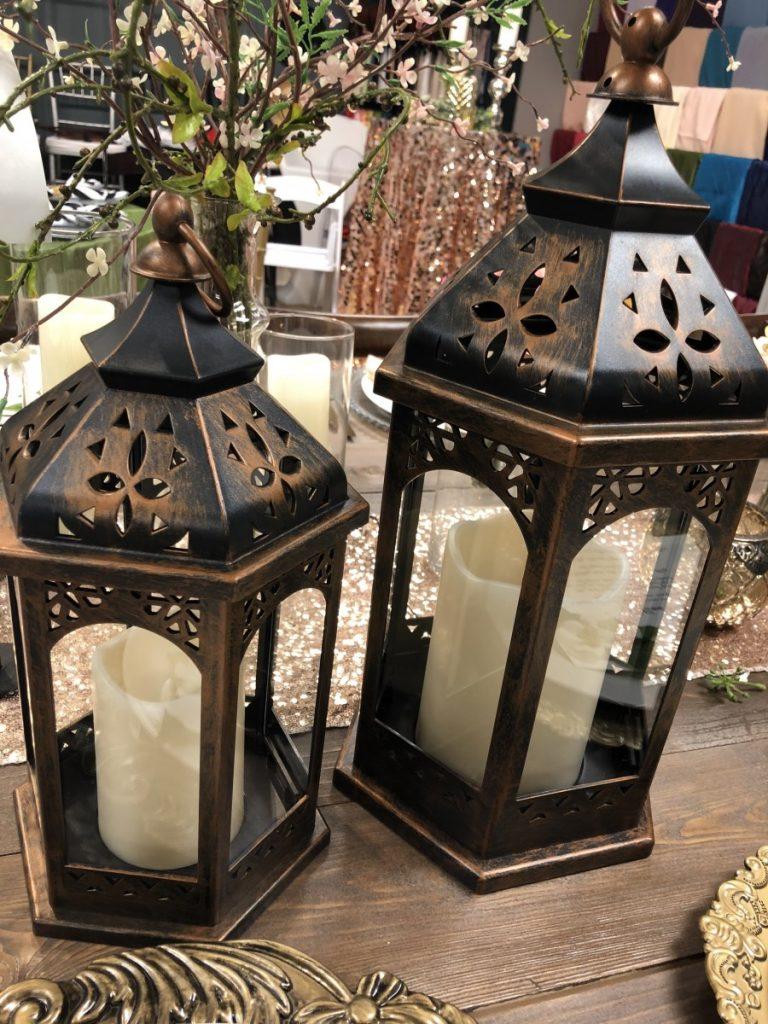 """Table Top Decor - Lanterns - 13"""" & 16"""""""