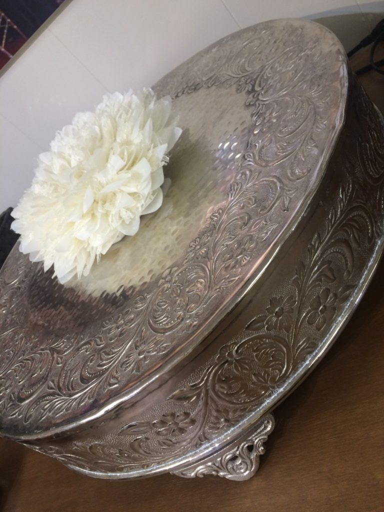 Silver Cake Stand Table Top Decor