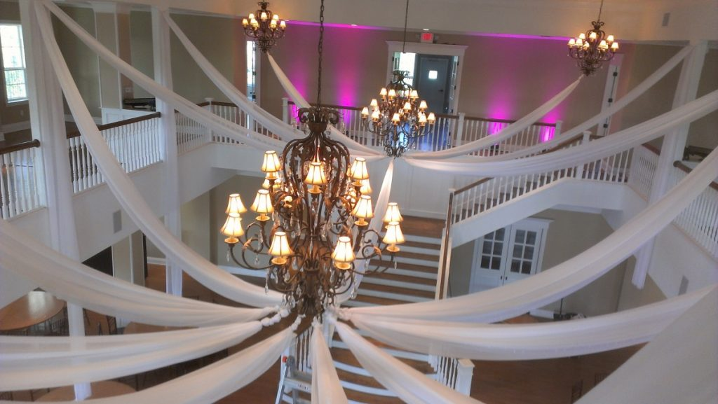 Ceiling Draping with Uplighting