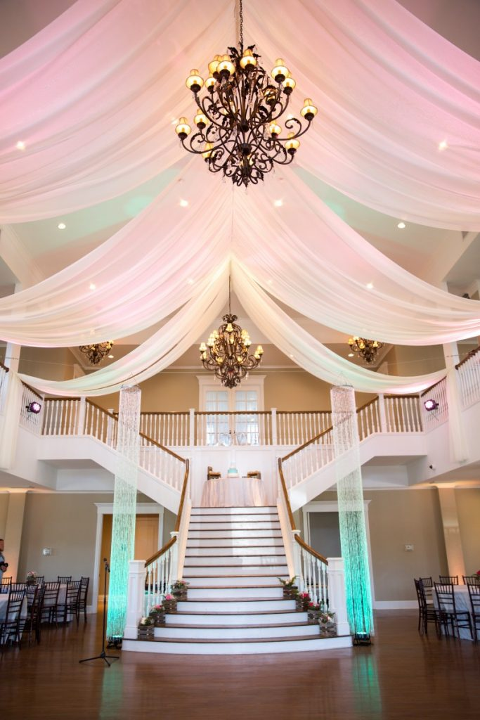 Ceiling Drape with Uplighting & Shimmiliers