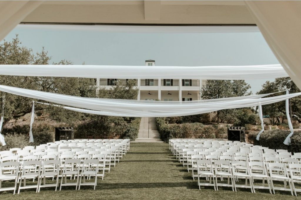 Outdoor Draping over Ceremony Site