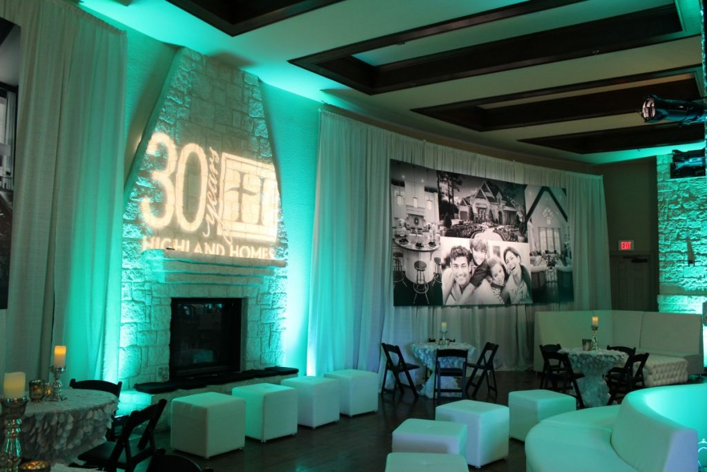 Lighted Wall Draping