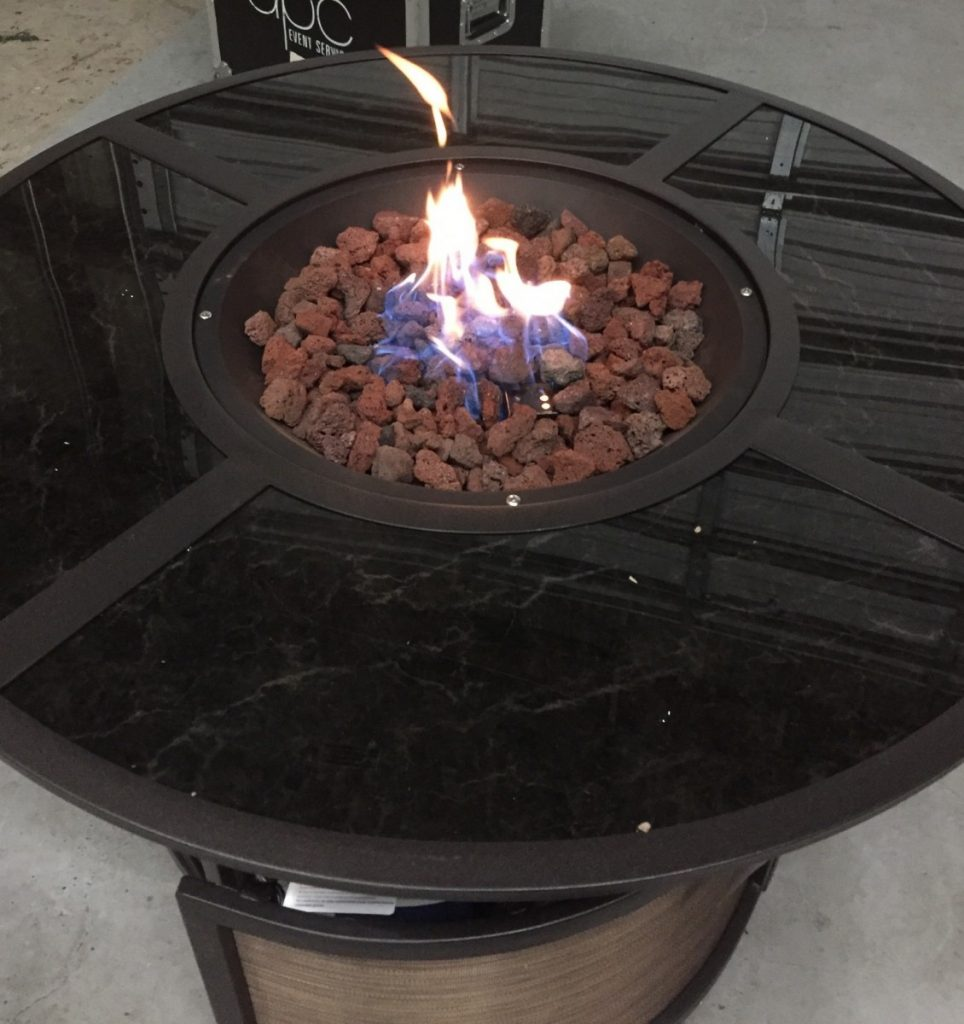 Round Fire Pit Aerial View