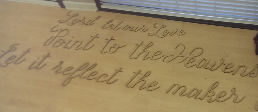 Wooden Lasered Quote