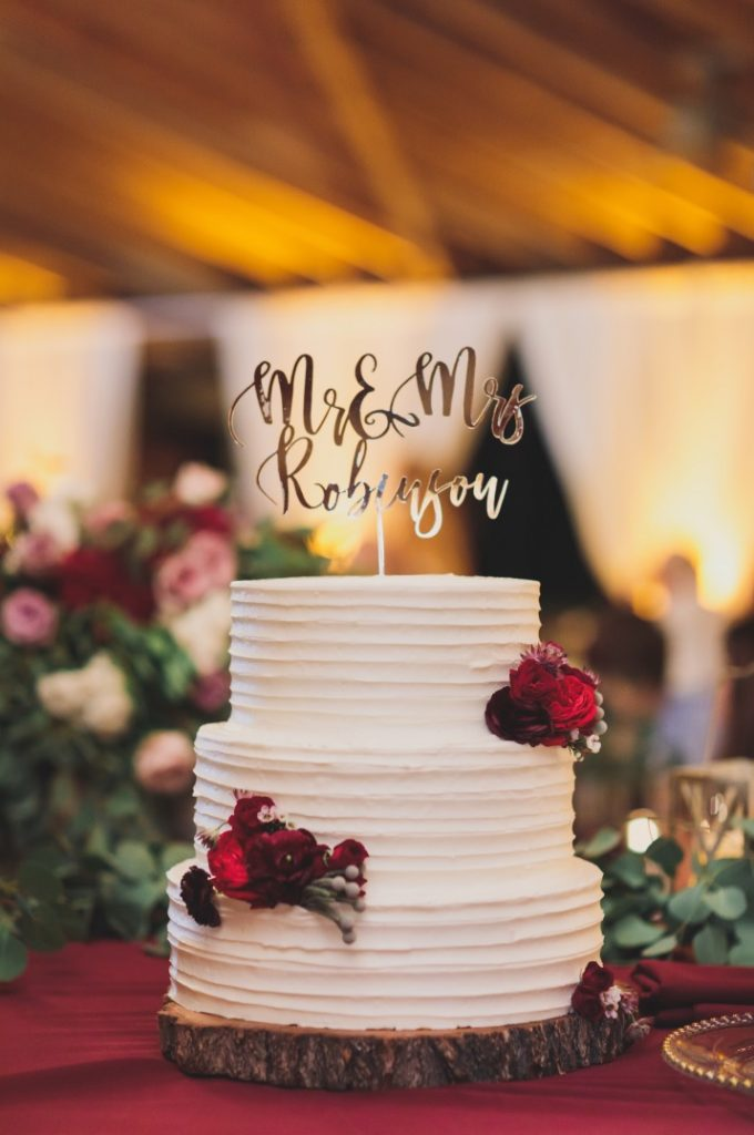 Lasered Gold Mirrored Cake Topper