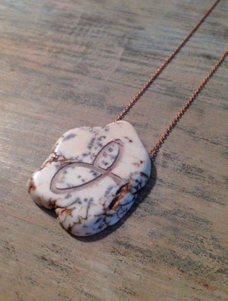 Initial Lasered on Necklace