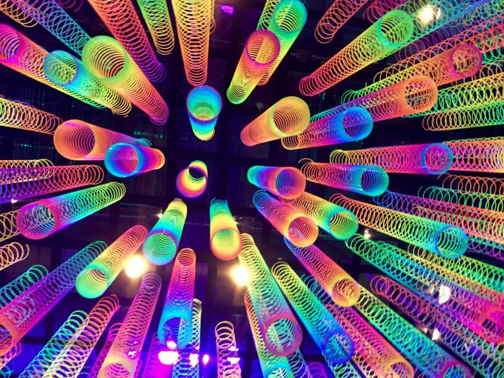 Black Lighting Creates Vibrant Colors!