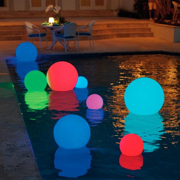 Floating Orbs in Pool