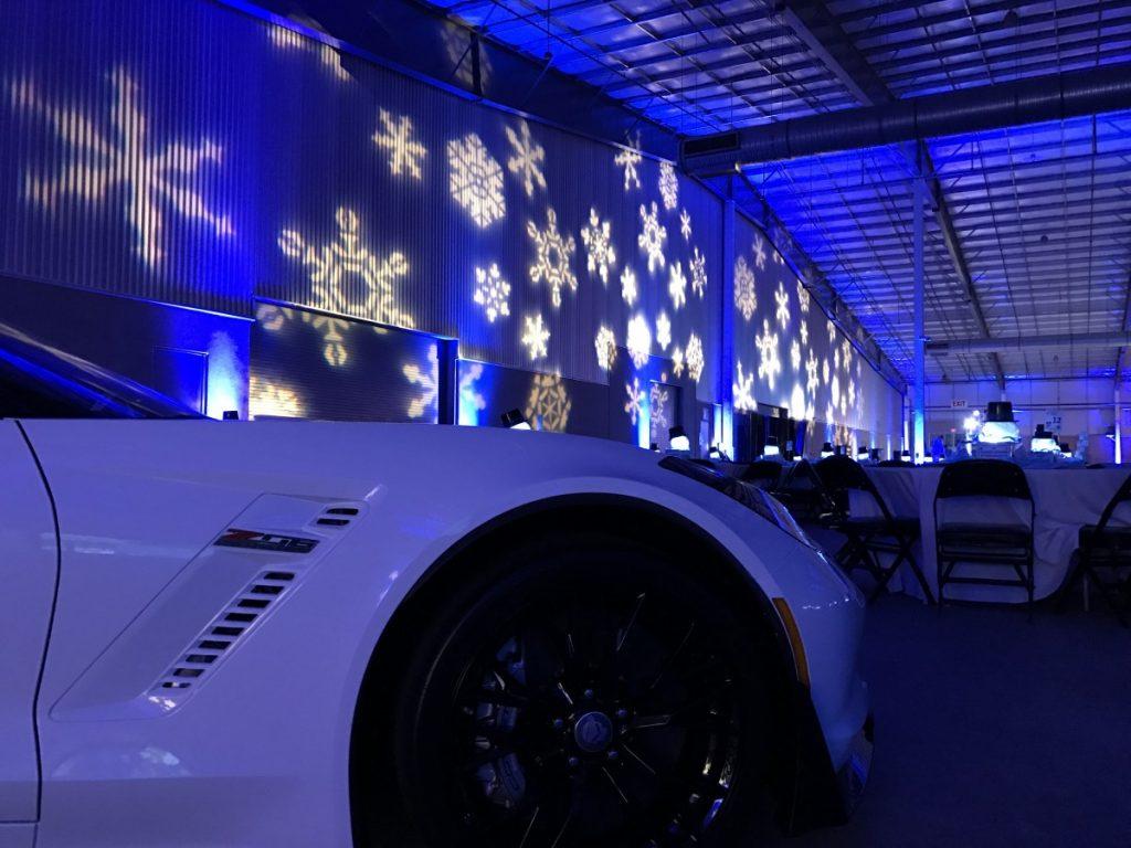 Snowflake Pattern Gobo Lighting with Uplighting
